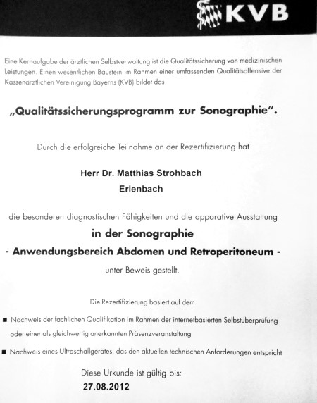 Qualifikation - Dr.med. Matthias Strohbach, Internist, 63906 ...